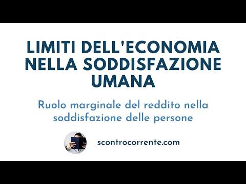 Economia: i suoi limiti per la soddisfazione umana